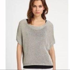 Vince boxy slouchy boho crop sweater top shirt L